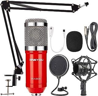 ZINGYOU Condenser Microphone Bundle, BM-800 PC Microphone Professional Cardioid Studio..