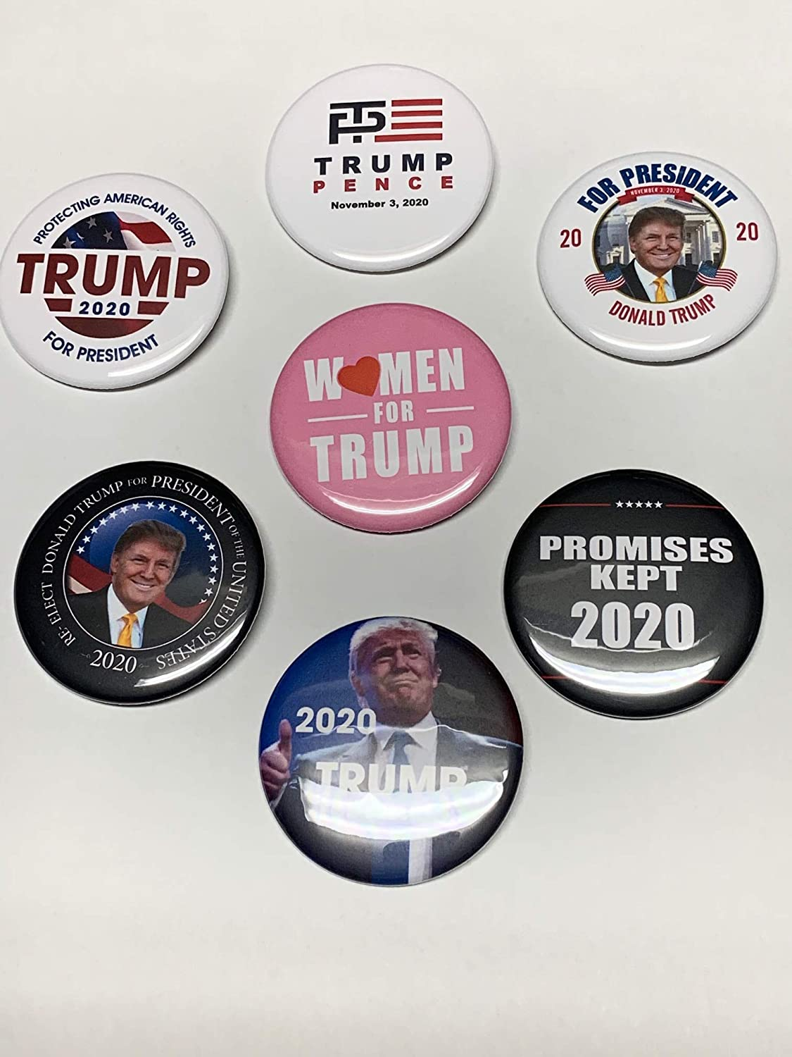 Trump 2020 Campaign Buttons 6 Pack Bonus Save money Jacksonville Mall Women for FREE +
