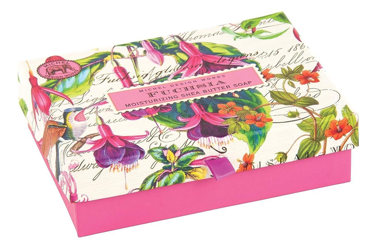 アウターシェルターフィラデルフィアMichel Design Works Triple Milled Double Soap Box Set, Fuchsia [並行輸入品]