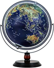 Illuminated Globe LED Lights,32cm World Globe Lamp with Wooden Base Modern World Globe-for Office and Home Decoration