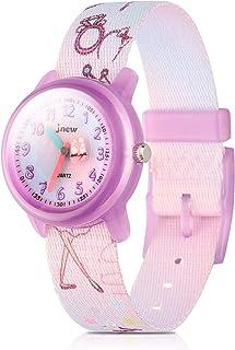 Kids Watches Cute Cartoon Waterproof Nylon Fabric Strap Children Toddler Wrist Watch Time Teacher Birthday Xmas 3-10 Year Boys Girls (Princess)