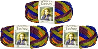 Red Heart Boutique Sashay Yarn (3 Pack) Disco