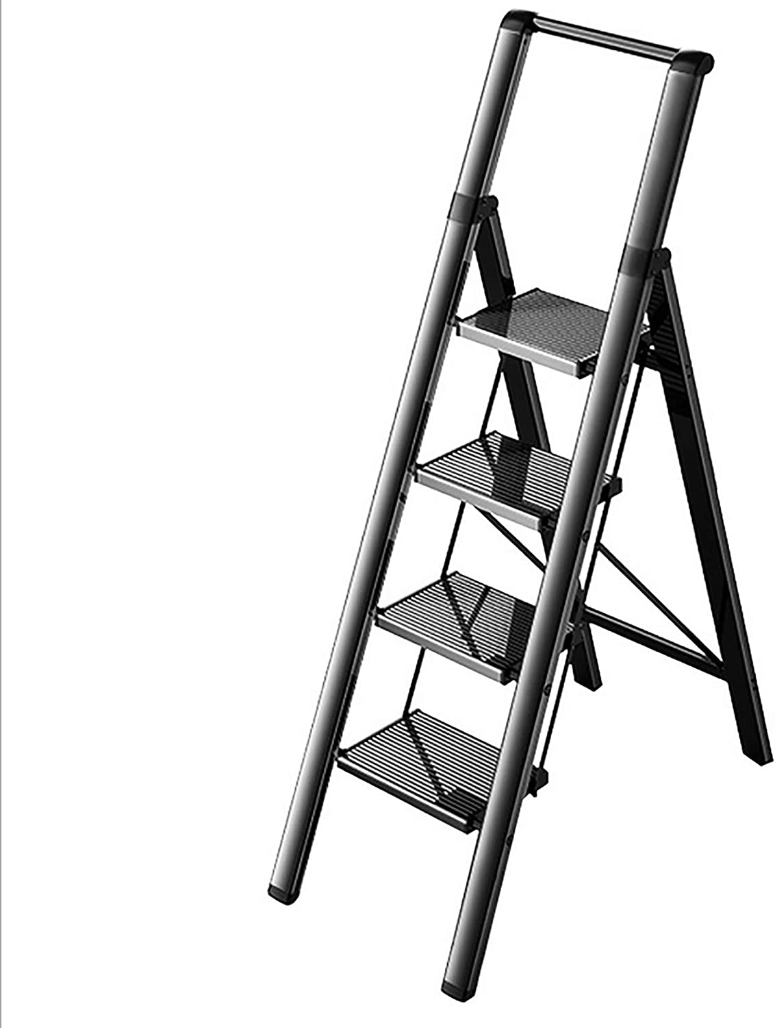 Yajun Gorgeous 4 Steps Ladder with Wide Handrail Folding Aluminum Max 81% OFF
