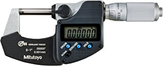 Mitutoyo 293-348-30CAL Digimatic Micrometer with Calibration, 0-1