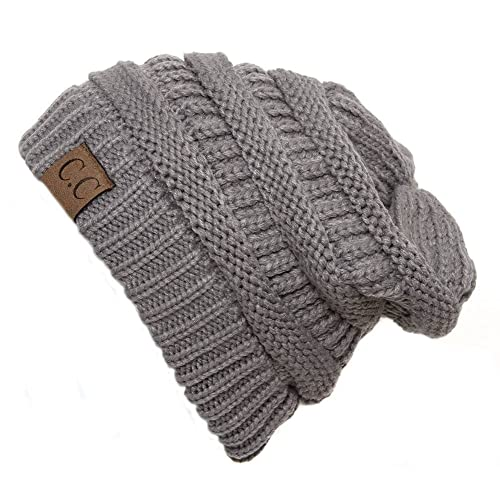 Thick Soft Knit Oversized Beanie Cap Hat 7684a3a4cd7