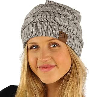 CC Fleeced Fuzzy Lined Unisex Chunky Thick Warm Stretchy Beanie Hat Cap