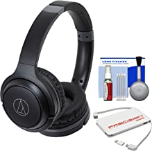 Audio-Technica ATH-S200BT Bluetooth Wireless On-Ear Headphones (Black) with Portable Charger + Cleaning Kit