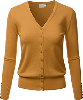 LALABEE Women's V-Neck Long Sleeve Button Down Sweater Cardigan Soft Knit