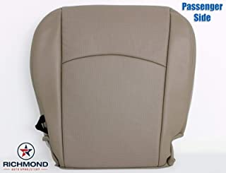 Richmond Auto Upholstery - Passenger Side Bottom Replacement Leather Seat Cover (Perforated) (Compatible with 2009-2012 Dodge Ram 1500, 2500, 3500) (Light Pebble Tan)