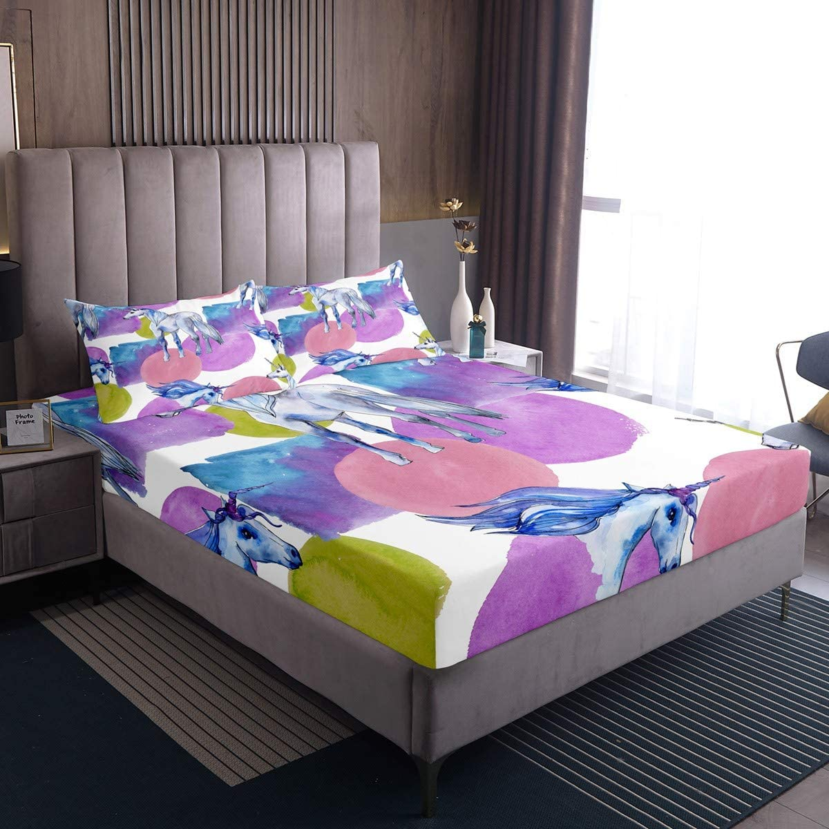 Colored Round Pattern Phoenix Mall White Horse Fitted Bedding Al sold out. Kids for Sheet