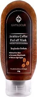 Grandeur Coffee Peel Off Mask With Arabica Coffee And Aloe vera Extracts 100g, | Deep Cleansing | Skin brightening | De-Tan |