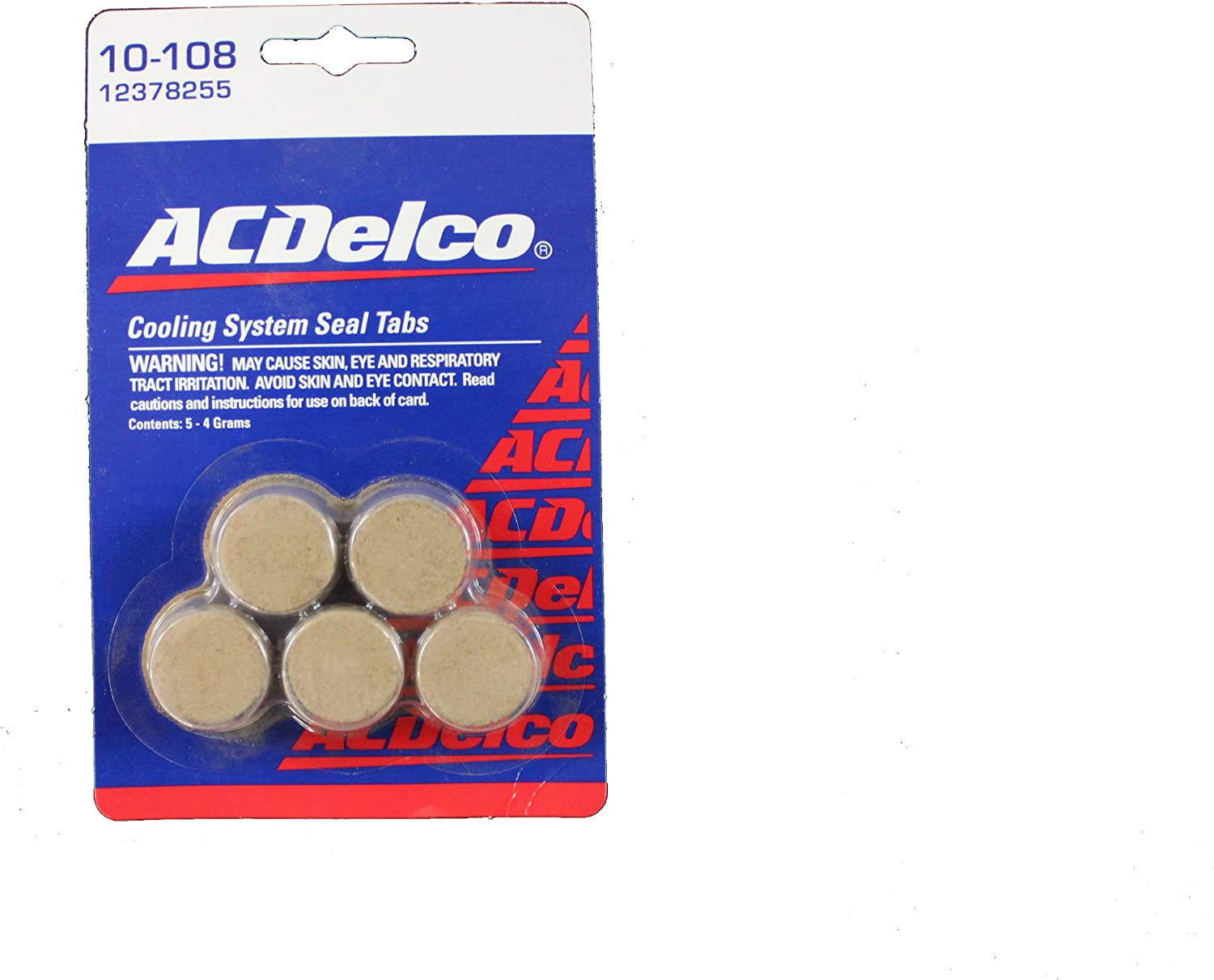 Genuine 40% OFF Cheap Sale GM Fluid 12378255 Cooling Ranking TOP12 System 4 Grams - Seal Tablet