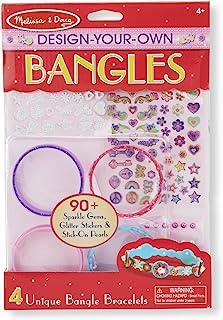 Melissa & Doug 2209 Design-Your-Own Bangles Bracelet-Making Set (Makes 4 Bangles),Red