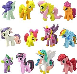 PD Store New 12 Pieces Little Pony Figure Set PVC Toy Cake Topper Twilight Sparkle USA Fast Ship