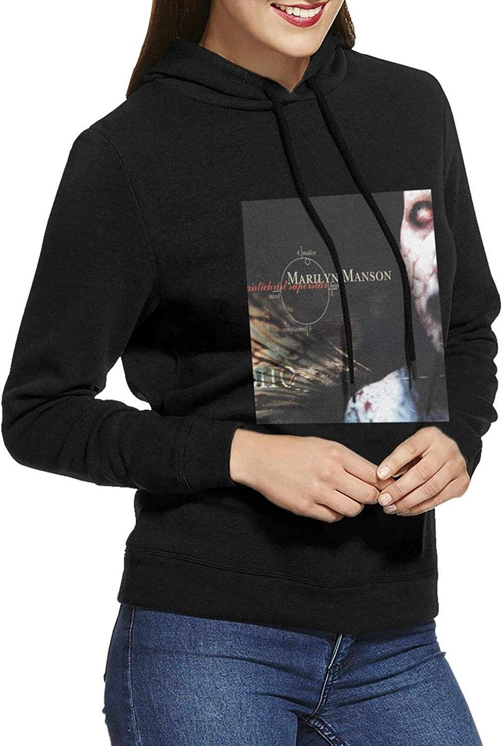 Marilyn Manson Antichrist Superstar Sweatsh Casual Hoodie Female SEAL limited product Clearance SALE! Limited time!
