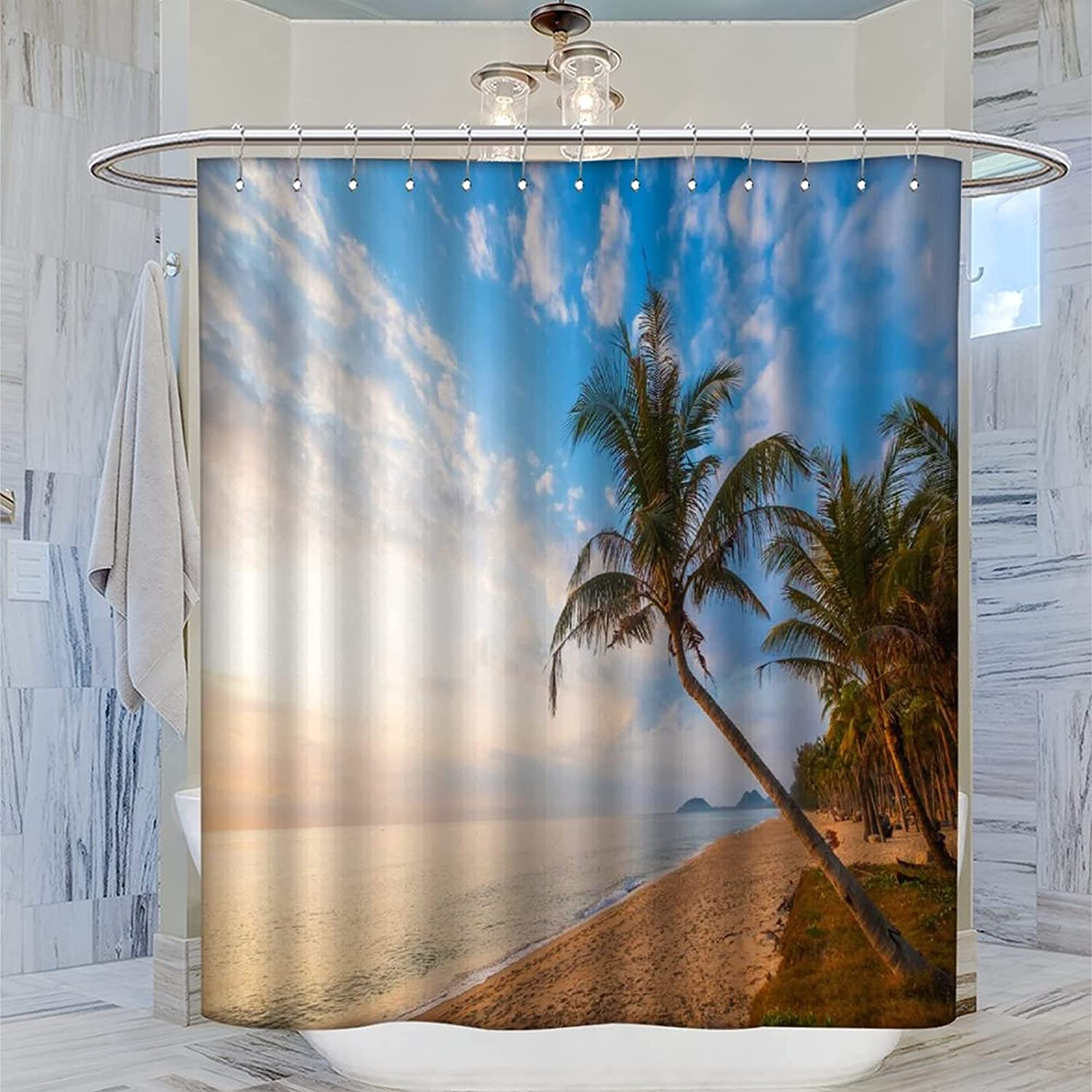 Clear Sea Max 63% OFF Breeze Max 66% OFF and Coconut Polyester Sh Trees Household Fabric