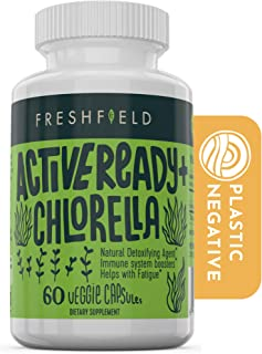 Freshfield Vegan Chlorella: Active Ready+, 500mg Capsules, Naturally occuring Chlorophyll & Beta-Carotene from Green Fresh...