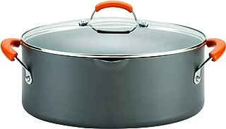 Rachael Ray 87393 Brights Hard Anodized Nonstick Pasta Pot / Stockpot / Stock Pot - 8 Quart, Gray