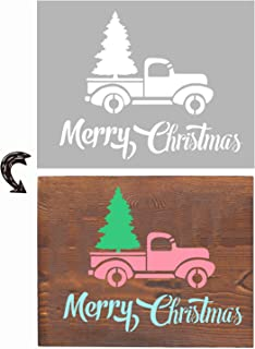 Sponsored Ad - Agantree Christmas Stencils 13x9inch - Inspirational Word Stencils Template for Drawing Painting Spraying a...