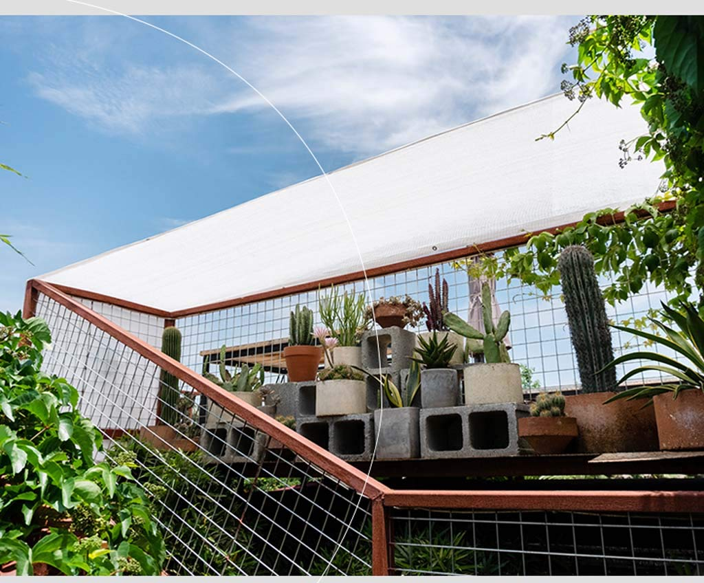 Mankvis Pantalla de jardín, toldo a Prueba de Agua para balcón Patio con jardín - Rectangular, Blanco, Lavable a máquina,2 * 3M: Amazon.es: Hogar