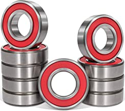 10 Pcs 6001-2RS Bearing (12x28x8mm) Quiet, Double Rubber Red Seal Bearing, Deep Groove for Home Appliances, Garden Machinery,Industrial Equipment, Electric Toys and Tool, etc.
