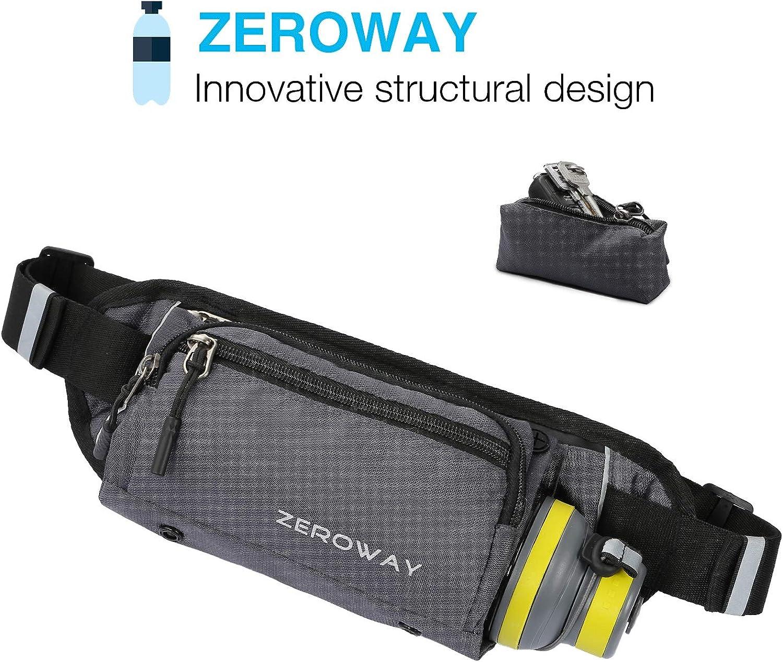 1fb4bca11497 Zeroway Fanny Pack with Water Bottle Holder Waterproof Running Belt ...