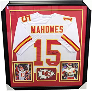 Patrick Mahomes Kansas City Chiefs Autographed Signed Framed White Jersey - Beckett Authentic