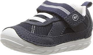 Stride Rite Baby-Boy's Soft Motion Jamie Sneaker Athletic, Navy/White, 3 W US Infant