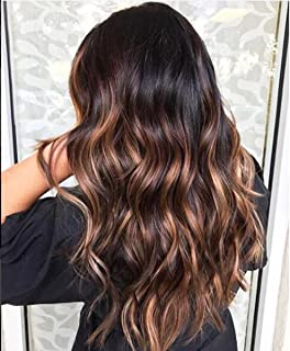 Brazilian Lace Front Wigs Human Hair Ombre 1B/33#/30# Highlight Color Virgin Hair Wigs with Baby Hair 150% Density Wet and Wavy Hair Pre plucked Wigs for Women (16inch, Lace Front Wig)
