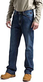 Titicaca Men's FR Jeans Flame Resistant Low Rise Comfort 11.5oz 100% Cotton Blue Denim Relaxed Fit Jeans