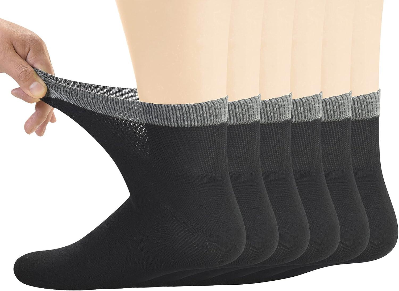 Yomandamor Men's Bamboo Diabetic Virginia Beach Mall Ankle Toe Seamless Socks Soldering with a