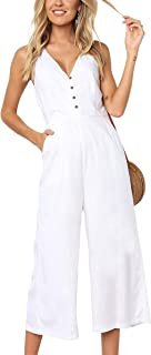 Best white linen jumpsuit Reviews