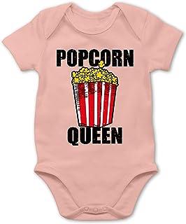 Shirtracer Karneval und Fasching Baby - Popcorn Queen - schwarz - Baby Body Kurzarm für Jungen und Mädchen