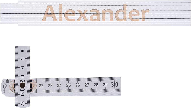 mit Namen Frank 2m Zollstock // Metermaß Gravur beidseitig Lasergravur