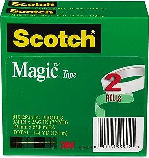 """Scotch - Magic Tape, 3/4"""" x 2592"""", 3"""" Core, 2/Pack 810-2P34-72 (DMi PK"""
