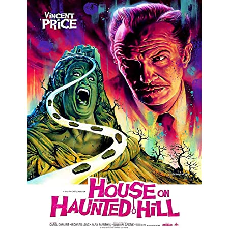 Vintage Vincent Price Horror Movie Poster House on Haunted Hill