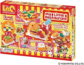 LaQ Sweet Collection My Little Restaurant - 11 Models, 260 Pieces - Creative Construction Toy