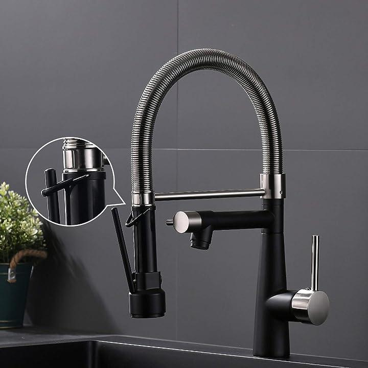 Rubinetto da cucina per lavello ad alta pressione con molla a spirale e blocco doccetta estensibile timaco B08P5M5SDC