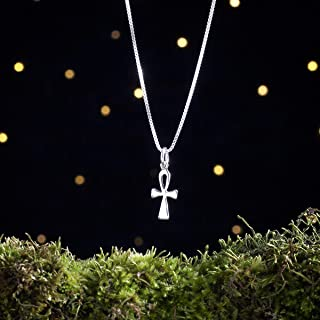 Sterling Silver Teeny Tiny Ankh - (Charm Only or Necklace) - Handmade, Solid .925