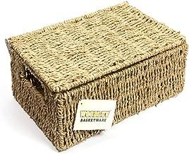 Woodluv Brand New Medium Seagrass Storage Basket with Lid