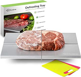 Kusine Defrost Tray and Thawing Plate | Fast defrosting tray for frozen foods | Rapid Meat Thawing Tray works like magic! ...