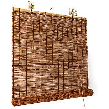 Persiana de bambú Persianas Exteriores De La Cortina Enrollable para Exteriores, Persianas Enrollables para El Patio De La Terraza Porche, Pérgola, Balcón, Patio Trasero, 85cm / 105cm / 125cm / 145cm: Amazon.es: Hogar
