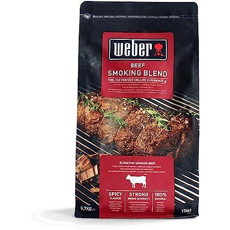 Weber–Virutas Beef 700g, Negro, 30.5x 27.2x 15.2cm, 17663