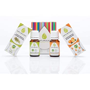 Naturoleo Cosmetics - Árbol de Té BIO + Naranja BIO - Pack Aceites Esenciales 100% Puros Ecológicos Certificados - 10 ml + 10 ml: Amazon.es: Belleza