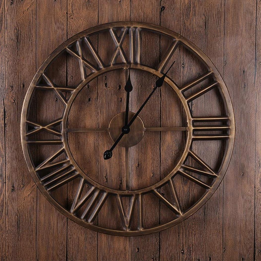 一般的な経済精度JIAJIA ヨーロッパとアメリカのレトロなローマ数字の壁時計ホームリビングルームの寝室の古いブロンズ丸い壁時計人格金属装飾品45 * 45 Cm クリエイティブ