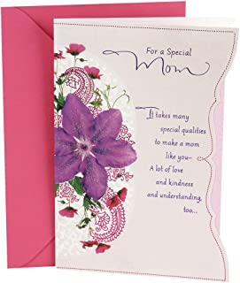 Hallmark Birthday Greeting Card for Mom (Purple Flower)