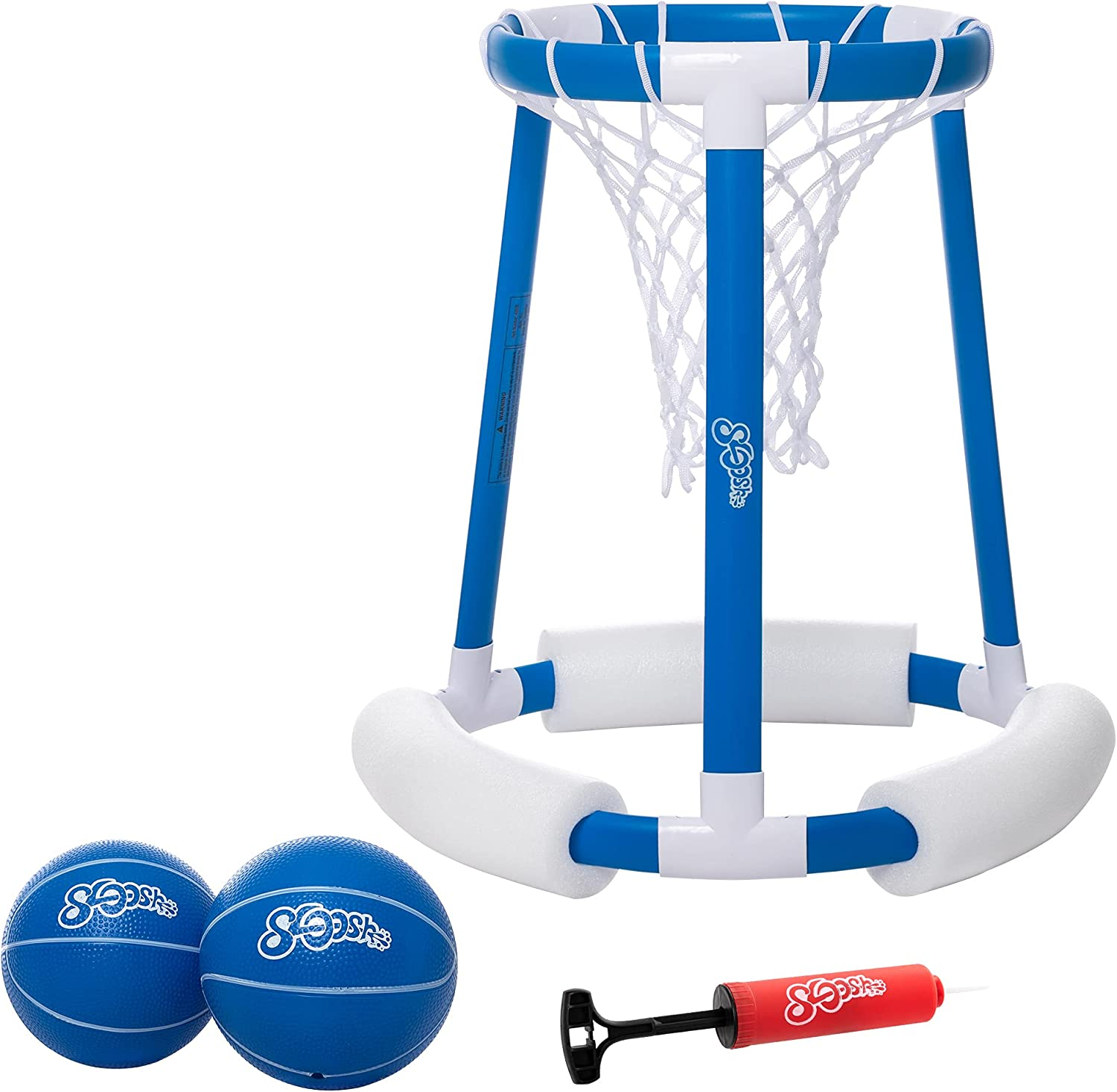 Floating Pool Basketball Hoop Game for Swimming Pool   Includes Hoop, 2 Balls and Pump,Inflatable Basketball Hoop Water Basketball Game Pool Toys for Kids and Adults (Blue): Garden & Outdoor