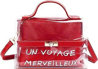 df1c330c6a CRAZYCHIC - Sac Transparent Femme - Petit Sac à Main PVC Porté Epaule  Bandoulière - Cabas