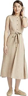 Lee Cooper Women's 3017677 LCU20BELTDRS Woven Cocktail Dress, X-Large, Beige