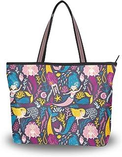 My Daily Damen-Schultertasche, Meerjungfrauen-Cartoon-Handtasche